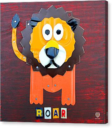 The Kid Canvas Print - Roar The Lion License Plate Art by Design Turnpike