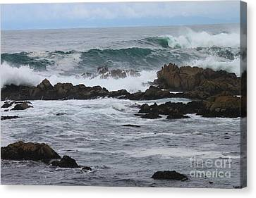 Roaring Sea Canvas Print by Bev Conover