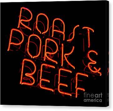 Roast Pork And Beef Canvas Print