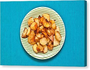 Roast Potatoes Canvas Print by Tom Gowanlock
