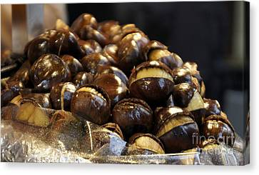 Canvas Print featuring the photograph Roasted Chestnuts by Lilliana Mendez