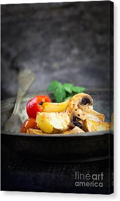 Roasted Vegetables Canvas Print by Mythja  Photography