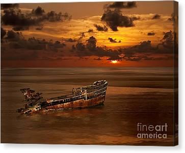 Roatan Shipwreck Canvas Print