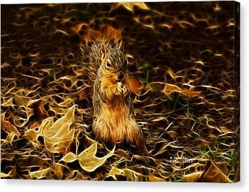 Robbie The Squirrel -1554 F Canvas Print by James Ahn