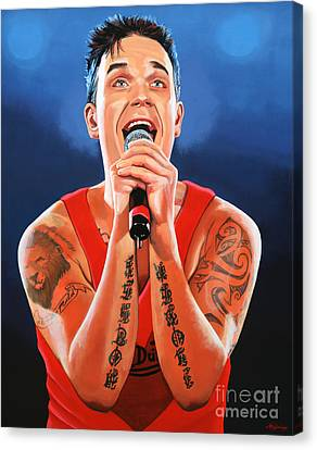 Robbie Williams Painting Canvas Print by Paul Meijering