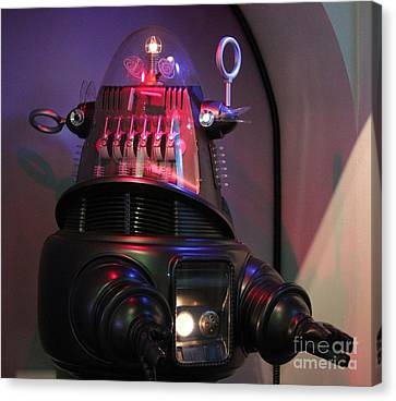 Canvas Print featuring the photograph Robby The Robot 1956 by Cynthia Snyder