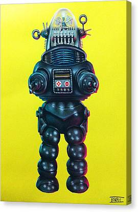 Robby The Robot Canvas Print by Brent Andrew Doty