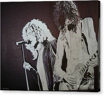 Led Zeppelin Artwork Canvas Print - Robert And Jimmy by Stuart Engel