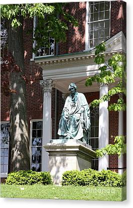Robert Brooke Taney Statue - Maryland State House  Canvas Print by Christiane Schulze Art And Photography