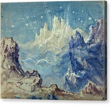 Robert Caney, British 1847-1911, Fantastic Mountainous Canvas Print