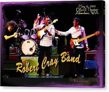 Robert Cray Band Canvas Print by Sadie Reneau
