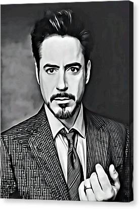 Avengers Canvas Print - Robert Downey Jr by Florian Rodarte