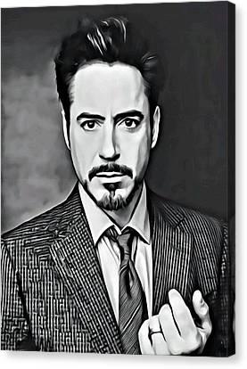 Robert Downey Jr Canvas Print by Florian Rodarte