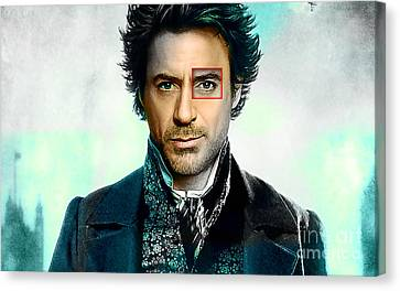 Robert Downey Jr  Canvas Print by Marvin Blaine