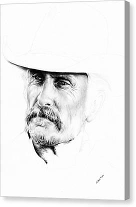 Robert Duvall  1st Draft Canvas Print