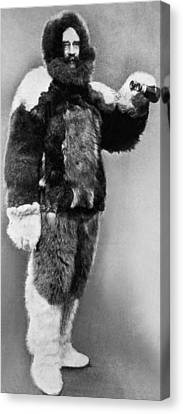Citizen Canvas Print - Robert E. Peary In Fur by Underwood Archives