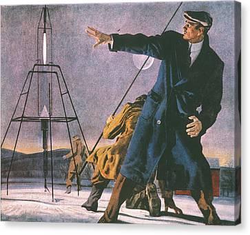 Robert Goddard (1882-1945) Canvas Print by Granger