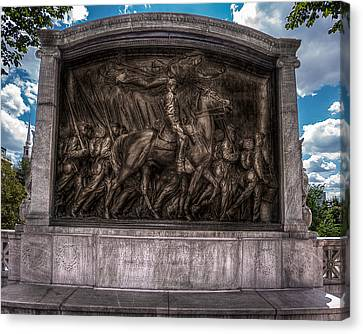Robert Gould Shaw Memorial On Boston Common Canvas Print