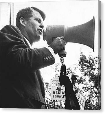 Robert Kennedy Canvas Print by Underwood Archives