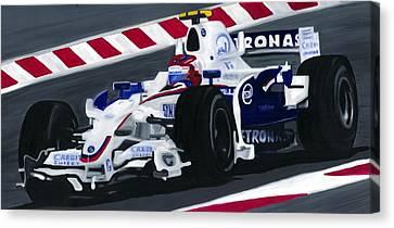 Canadian Grand Prix Canvas Print - Robert Kubica Wins F1 Canadian Grand Prix 2008  by Ran Andrews