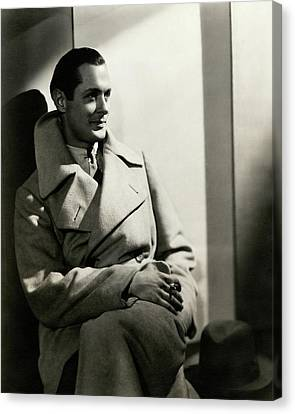 Young Man Canvas Print - Robert Montgomery Wearing An Overcoat by Toni Von Horn