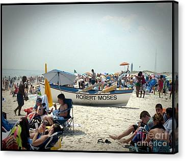 Robert Moses Beach Canvas Print By Valerie Quick