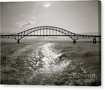 Canvas Print featuring the photograph Robert Moses Bridge by Paul Cammarata