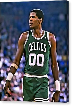 Robert Parish Portrait Canvas Print