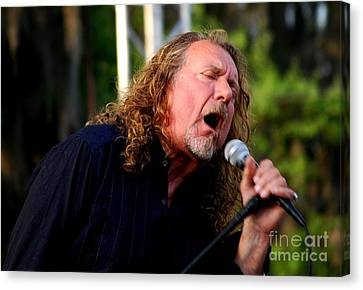 Robert Plant 2 Canvas Print by Angela Murray