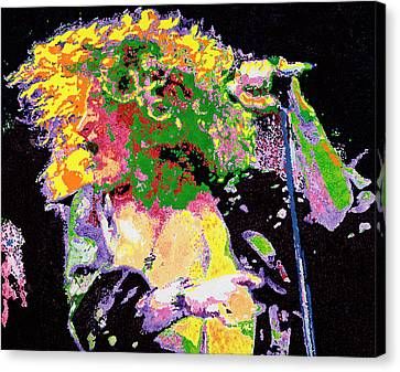 Robert Plant Canvas Print by Barry Novis