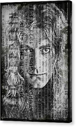 Led Zeppelin Artwork Canvas Print - Robert Plant - Led Zeppelin by Absinthe Art By Michelle LeAnn Scott
