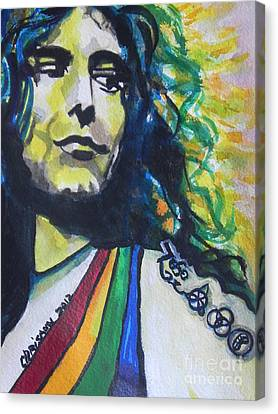 Robert Plant.. Led Zeppelin Canvas Print by Chrisann Ellis