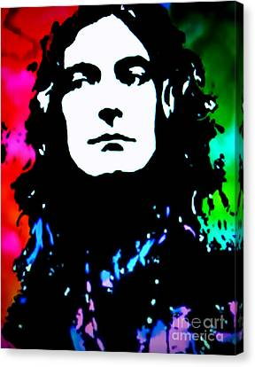 Robert Plant Performance Art Canvas Print - Robert Plant Pop Art by Ryszard Sleczka