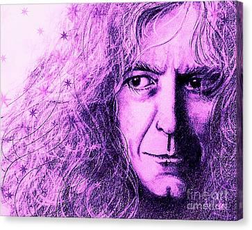 Robert Plant Purple Canvas Print