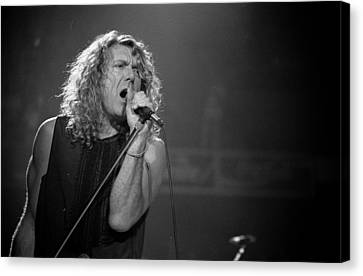 Robert Plant Performance Art Canvas Print - Robert Plant by Timothy Bischoff