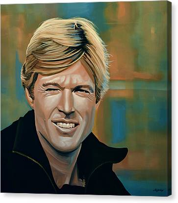 Sacred Artwork Canvas Print - Robert Redford by Paul Meijering