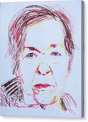 Roberta's Portrait Canvas Print by PainterArtist FINs husband Maestro