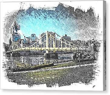 Roberto Clemente Bridge Canvas Print by Spencer McKain