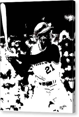 Roberto Clemente Drawing Canvas Print by Rob Monte