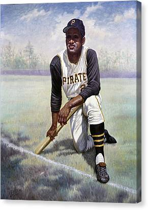 National League Canvas Print - Roberto Clemente by Gregory Perillo