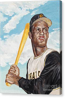 Roberto Clemente Canvas Print by Philip Lee