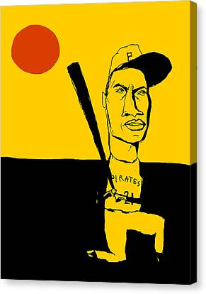 Roberto Clemente Pittsburgh Pirates Canvas Print by Jay Perkins
