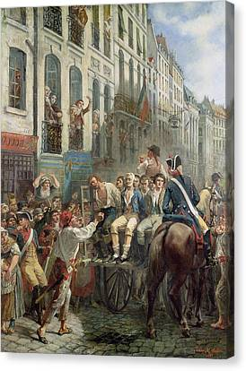 Robespierre 1758-94 And Saint-just 1767-94 Leaving For The Guillotine, 28th July 1794, 1884 Oil Canvas Print by Alfred Mouillard