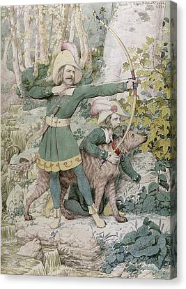 Aiming Canvas Print - Robin Hood by Richard Dadd
