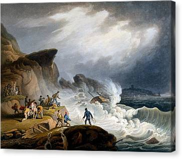 Stormy Weather Canvas Print - Robin Hoods Bay, Yorkshire, 1825 by Francis Nicholson