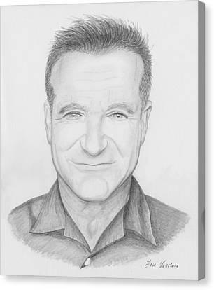 Robin Williams Canvas Print by M Valeriano