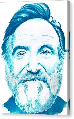 Robin Williams Canvas Print by Kyle Willis