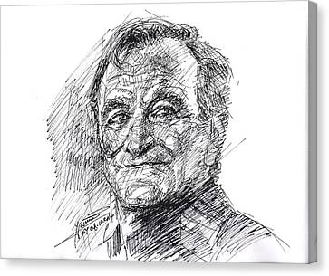 Robin Williams Canvas Print by Ylli Haruni