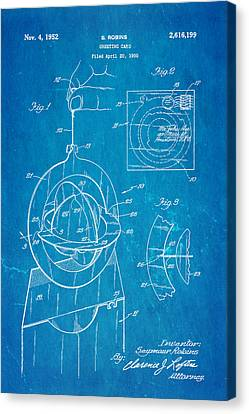 Quilter Canvas Print - Robins 3d Greeting Card Patent Art 1952 Blueprint by Ian Monk