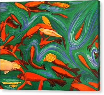Robin's Koi Canvas Print